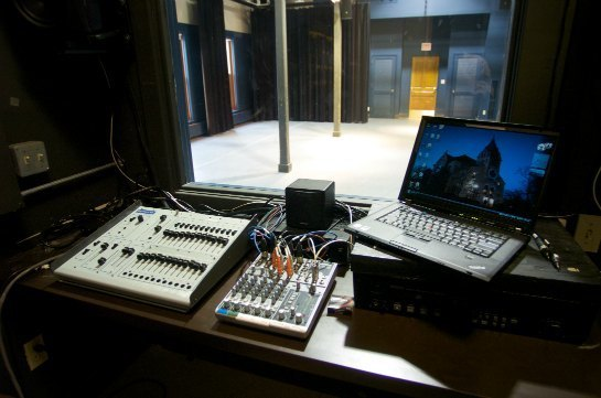Washington Hall Lab Theatre tech booth